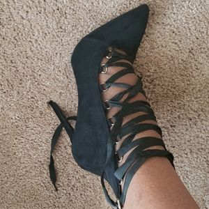 Brand New Pointed toe lace up Ankle booties